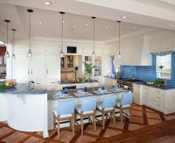 coastal kitchens kitchen beach style with breakfast bar blue tile