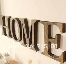 aliexpress com buy free shipping standing white wooden letter