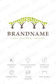 bridge of trees logo template 65719