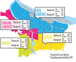 Downtown Portland Map by Neighborhoods By The Numbers 2013 Portland Monthly
