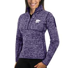 purple sweater antigua purple kansas state wildcats fortune 1 2 zip pullover sweater