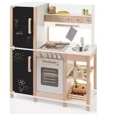 spielküche holz sun 04139 kinderküche mit tafel aus holz mit kühl gefrierkombination