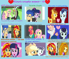 Mlp Fim Meme - my couples meme mlp fim version by t mack56 on deviantart