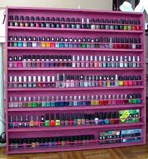 How To Get Nail Polish Off Furniture by Diy Wood Nail Polish Display Rack Update Youtube