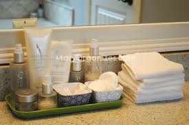 Bathroom Counter Ideas Master Bathroom Organization Her Sinks And Spa