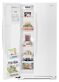 whirlpool white side by side refrigerator wrs571cidw