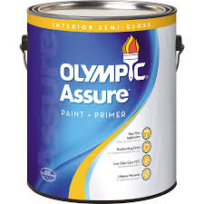 Interior Paint Shop Olympic Assure Tintable Semi Gloss Latex Interior Paint And