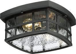 Outdoor Flush Mount Ceiling Light Quoizel Snn1612k Stonington Mystic Black Outdoor Flush Mount