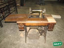 Antique Singer Sewing Machine Table 1910 Antique Singer Sewing Machine Table W Singer Treadle Cast