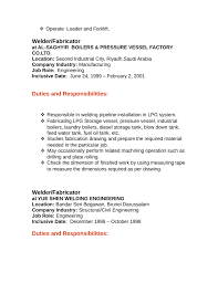 Resume For Welder Job by Professional Welder Fabricator Resume Template Page 2
