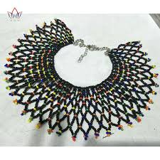 beaded necklace rope images 2018 african bohemia style christmas gifts rope chain statement jpg