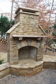 Stacked Stone Outdoor Fireplace - unique pictures of stone fireplace outdoor outdoor designs