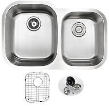 Undermount Kitchen Sink With Faucet Holes Blanco Diamond Undermount Composite 32 In Double Basin Kitchen