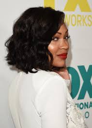 meagan good medium curls shoulder length hairstyles lookbook