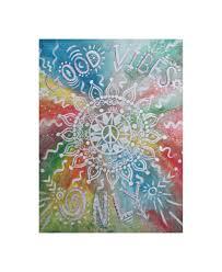 good vibes only print bohemian art boho home decor zoom