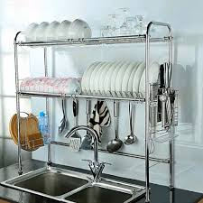 amazon com nex 2 tier stainless steel dish rack nonslip height