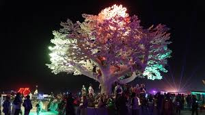 artificial tree lights problem tree of ténéré responds to burning man attendees with light patterns