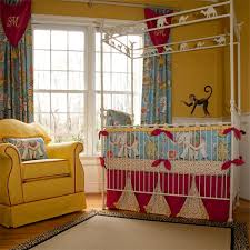 Circus Crib Bedding Elephant Walk Baby Bedding And Nursery Necessities In Interior