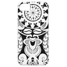 tribal polynesian tiki mask tattoo design iphone cases u0026 covers