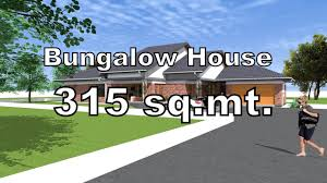 bungalow house design with 3 bedrooms 315 square meters youtube