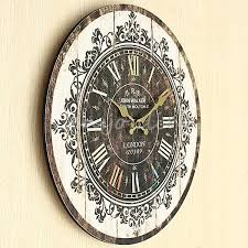 Home Decor Clocks Details About Large Wall Clock Tracery Vintage Rustic Shabby Chic