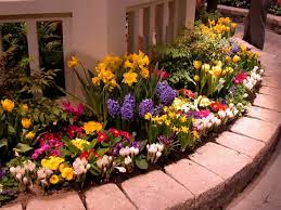 outdoor amazing flower bed ideas captivating colourful round