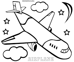 plane coloring pages excellent printable airplanes cartoons