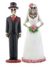 day of the dead wedding cake topper dod skeleton wedding cake topper day of the dead