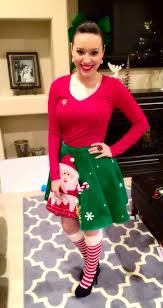 my for ugly sweater party i wore a tree skirt great