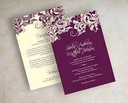 Affordable Wedding Invitations With Response Cards Image Of Jora Eggplant Purple Wedding Invitations Wedding