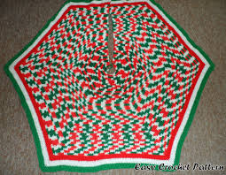 easy crochet pattern easy crocheted hexagon tree skirt