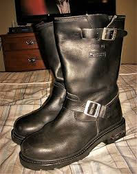xelement genuine leather engineer style motorcycle riding boots