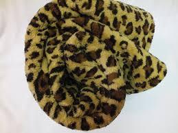 Leopard Print Faux Fur Throw Animal Print Leopard Skin Brown Beige Large Faux Fur Blanket 150 X