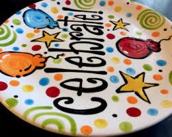 celebration plate celebrate plate etsy