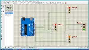 arduino based 4 way traffic light system youtube