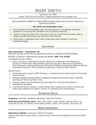 entry level resume resume sle mechanical engineering student new sle resume for