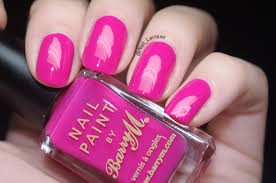 barry m shocking pink swatches nail lacquer uk