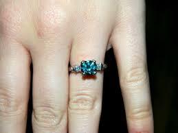 Blue Diamond Wedding Rings by Blue Diamond Engagement Rings Weddingbee Page 3