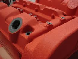 diy type r red wrinkle paint valve cover honda acura tech