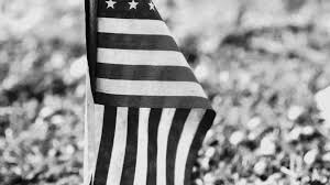 Black And White American Flag American Flag In Ground Black And White Stock Video Footage