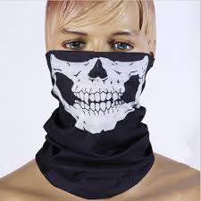 new men women 3d skull half face motorcycle mask biker skeleton