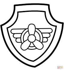 paw patrol skye u0027s badge coloring free printable coloring pages