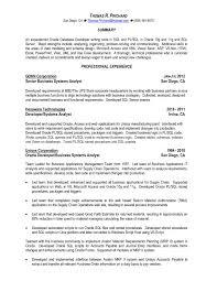 Careerbuilder Resume Database Astounding Design Pl Sql Developer Resume 9 Database Developer