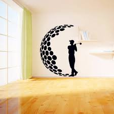 modern wall decals for living room 2017 play golf vinyl wall stickers 3d visual effects decals living
