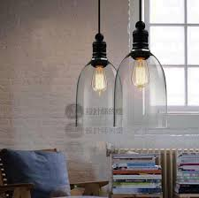 Glass Lights Pendants Modern Bell Glass Pendant Lights Vintage Industrial