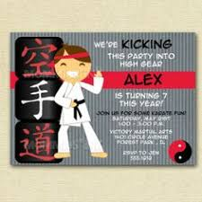 karate boy personalized stickers birthday stickers party favor