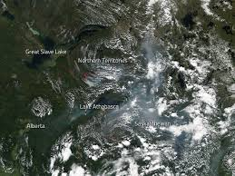 Alberta Wildfire Zones by Wildfire Burns In Icy Greenland Nasa
