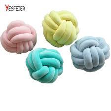 knot pillows 36 36cm handmade knot cushion knotted ball pillow kids bed pillows