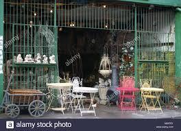 wrought iron garden ornaments grill shop front open cavernous