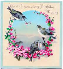 red headed finch clipart birthday card pencil and in color red